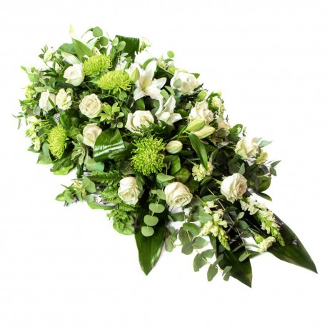 White and Green Double Ended Spray SYM-313