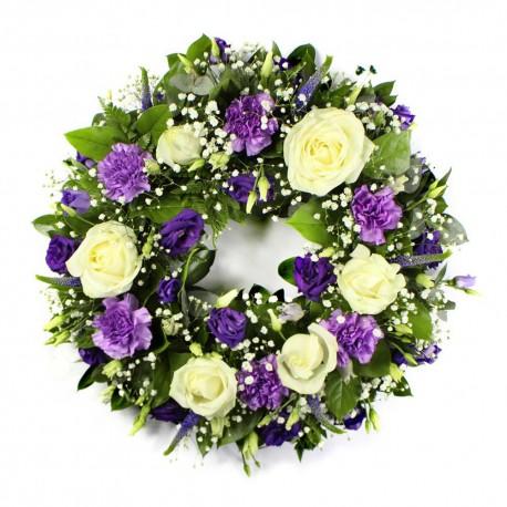 Blue ans white Wreath SYM-316