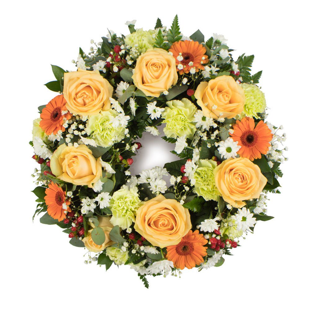 Peaches and greens Wreath SYM-315